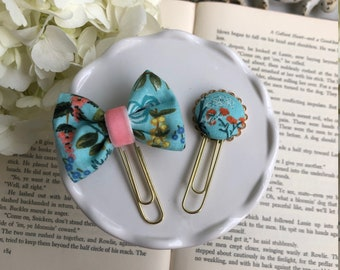 Rifle Paper Co Garden Mint Fabric Paper Clips