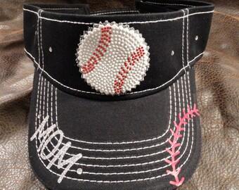 Baseball mom visor