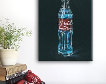 Fallout Nuka Cola Quantum print on canvas 30 x 50 cm (11.8 x 19.6 inch)