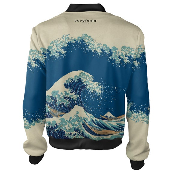 katsushika mens bomber Kanagawa jacket surfing off autumn Wave bomber hokusai Great men 4xl sukajan women vintage japanese art jacket rave qUTY0