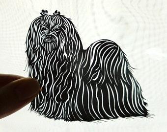 Original Maltese Framed Paper Cutting, Schereneschnitte, Pet Portrait, OOAK Art, Dog Art, Paper Art, Dog Paper Cutting