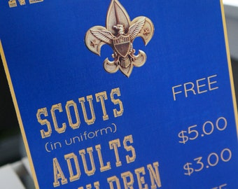 Cub Scout Registration Sign - Print Your Own