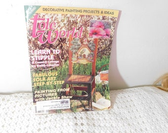 Tole Painting Magazine June 1997,Painting, Tole Painting, Crafts,:)s8