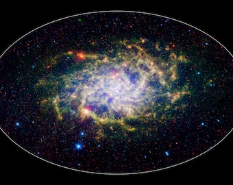 Poster, Many Sizes Available; Infrared Triangulum Galaxy M33
