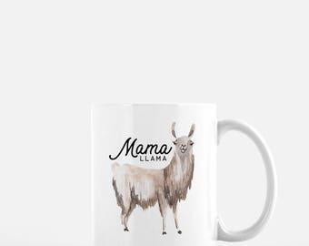 Coffee Mug, Llama Mug, Mama Llama, Funny Coffee Mug, Mothers day Gift, Gift for Mom, Gift for Wife, New Mom, Baby Shower Gift, Mom Gift