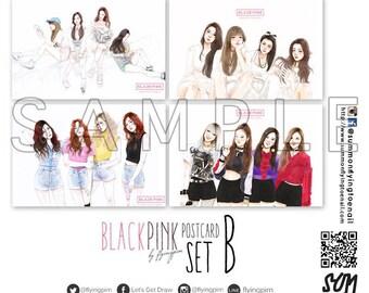 Blackpink @flyingpim Set B Postcard Set (Got permission from @flyingpim already)