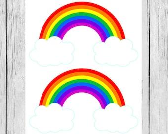 Rainbow Printables, Rainbow Birthday, Rainbow Baby Shower, Rainbow PDF