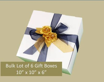 6 Glassware Boxes Wine Glass Gift Box 6 White Gift Boxes Bridesmaid Gift Box Wine Glasses Boxes for Stemware Gift Boxes Accessories Gift Box