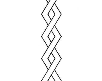 """Border Design Quilt Stencil, 3""""  -0357"""