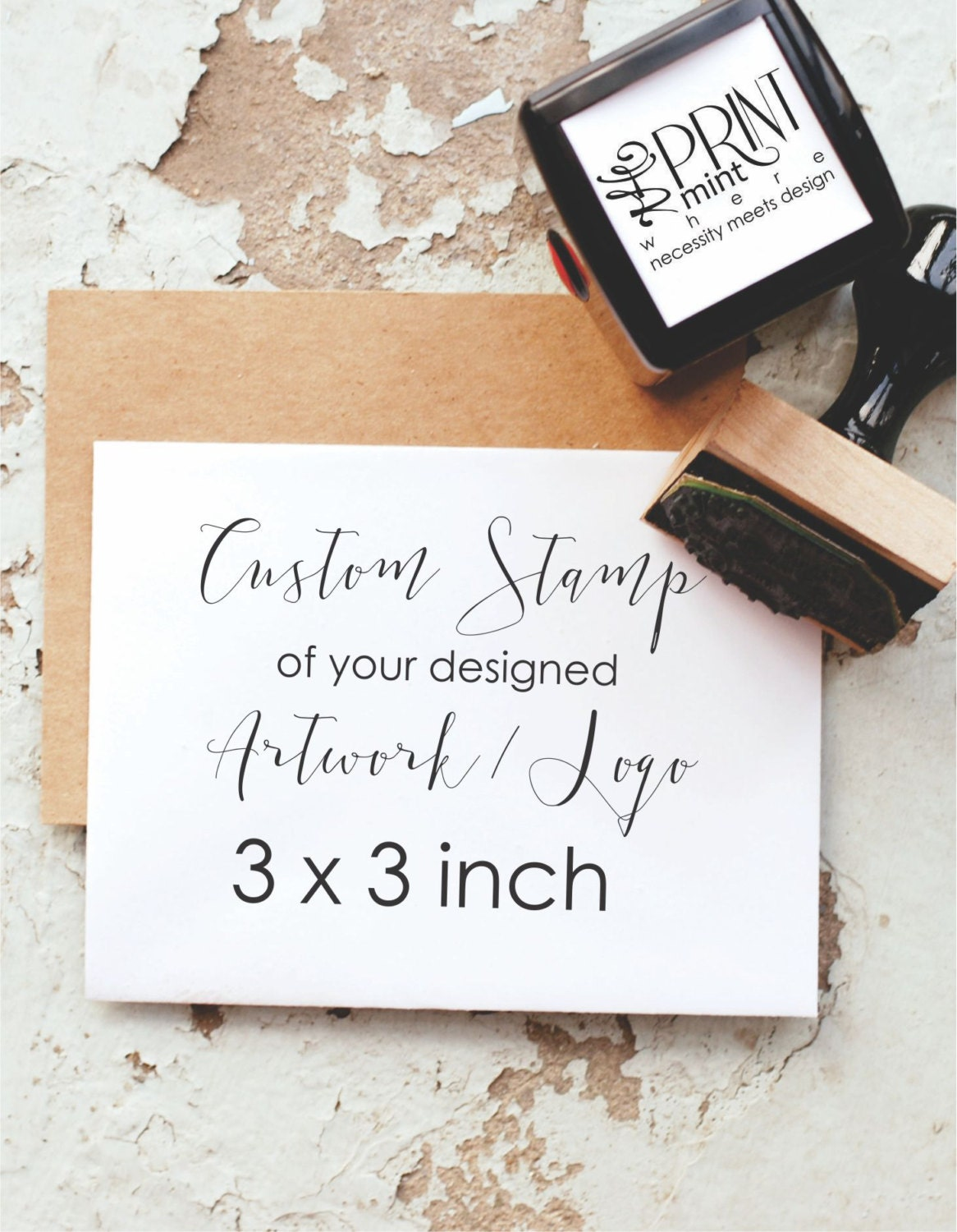 Custom Stamp 3x3 Inches 3 Inch Custom Logo Stamp Business