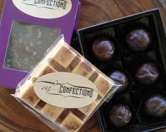Caramel Lovers Gift Set with French Toast Bar, Sea Salt Caramels and Toffee