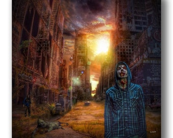 Zombie City - Inspired by The Walking Dead zombie zombies zombie art zombie life
