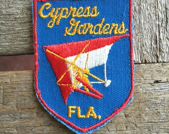 Cypress Gardens Florida Vintage Souvenir Travel Patch from Voyager - LAST ONE!