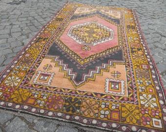 vintage tUrkish rug,  decorative, oushak rug, vintage rug decor, vintage rug, turkish rug, wool rug, small home rug, decorative rugs, 376
