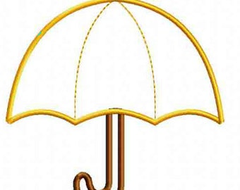 Umbrella Applique Design