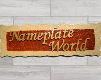 NameplateWorld_Beige and Brown_Handmade Wooden Nameplate for home