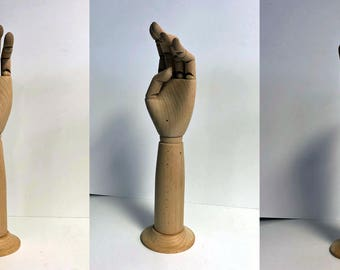 Articulated Wood Hand-Perfect for Displaying Gloves or other Accessories!