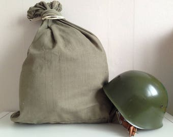 Green Army Backpack of the Bulgarian Army - Green backpack - military canvas bag - military bag - army canvas bag - Military Soldier Bag