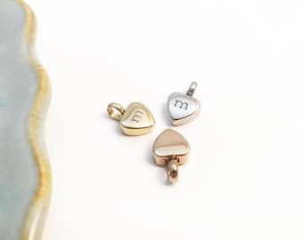ROSE Gold Cremation - Small Urn - Petite Heart Pendant - Always by my side ~ Forever in my heart ~ Remembrance ~ Memorial ~ Sympathy Gift