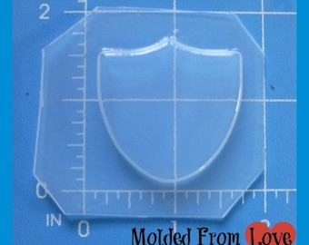 SALE Smallest Sheild Blank Mold   Plastic Resin Mold
