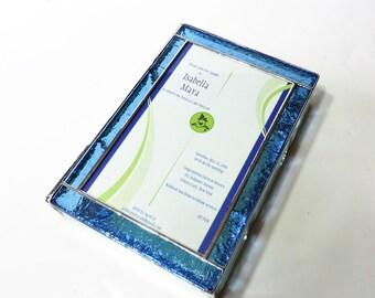 Stained Glass Keepsake Gift Box Bat Mitzvah Invitation 7x10x2 Divided Jewelry Box Wedding Bride Groom Custom Made