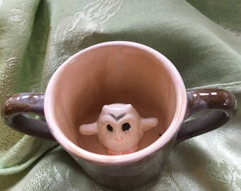 Double handle owl mug