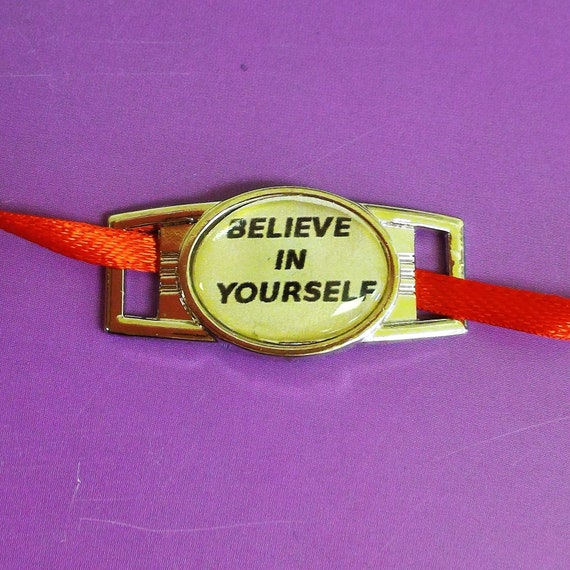 CLEARANCE 1 pcs Shoelace Charm Shoe Tag Believe in Yourself Shoe Lace Tag for Runners Running Jewelry