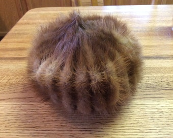 Item #9: Vintage Mink Pill Box Hat Pillow