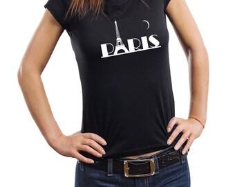Paris Woman Top France T-Shirt Tee Shirt