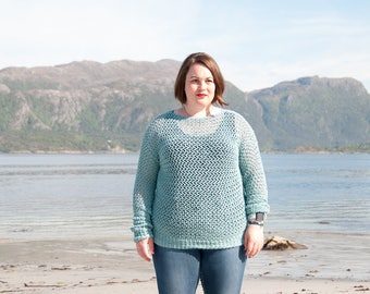 CROCHET PATTERN - Spring Sweater Crochet Pattern - PDF Crochet Pattern