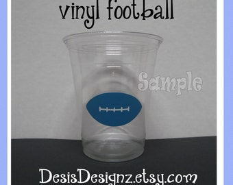 24 Baby shower Football vinyl decals Boy baby shower decorations sprinkle party vinyl cup stickers vinyl party cup stickers  Baby boy decals