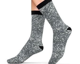 Silver Glitter Design Printed Sublimation Socks