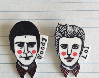 This Is England's Lol & Woody badge set