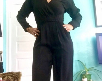 Vintage Liz Claiborne Silk Jumpsuit One Piece
