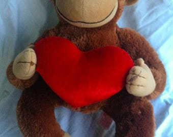 Vintage Heartford Valentine's Monkey from ROSS FREE SHIPPING!!