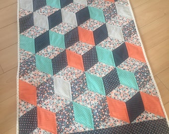 Handmade Tablerunner- Diamond pattern Tablerunner