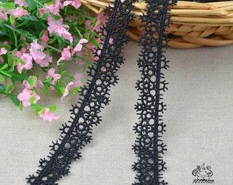2 meter * 2 cm /Guipure Black Lace guipure Lace Ribbo black Ref. 1620