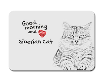Siberian cat, A mouse pad with the image of a cat. Collection!