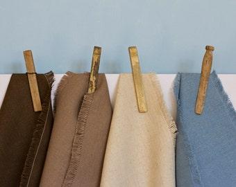 Table Napkin - Natural Fringed - Hemp / Organic Cotton - Set of 4 - Table Linen
