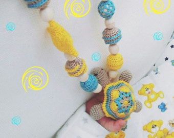 Teething necklace Nursing necklace Mom necklace Pregnancy gift Mom to be gift New baby gift New mom Maternity gift Teething toy Sensory toy