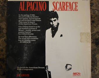 1984 Al Pacino Scarface Movie Video Laser Disc Laserdisc Videodisc 2 Disc Set
