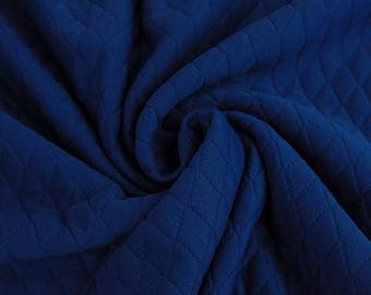 Royal Blue - Quilted knit