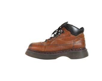 Vintage 90s Dr Martens Doc Marten Boot Men Ankle Boot Made in England Mens Doc Martens Brown Ankle Boot Doc Martins Dr Martins Platform