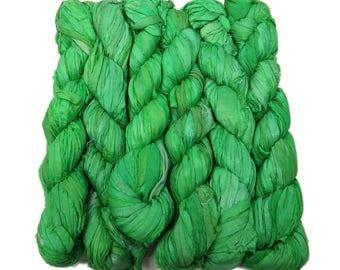 New! Sari Silk Ribbon, 100g , Spearmint