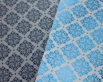 2 sheets of paper blue 30.5 x 30.5 cm mirror for crafting, scrapbooking, 230 gr 1326