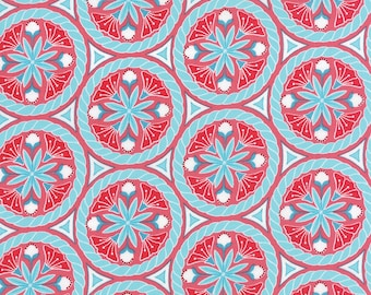 Pedal Pushers - Floral Crest in Raspberry by Lauren & Jessi Jung for Moda Fabrics