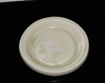 lime green Ring dish, jewelry dish, hand-thrown pottery ring dish, Clay Ring Dish - Pottery Ring Dish, Tea Bag Dish, Trinket Dish, Coin Dish