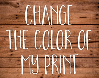 Change the color of my Print