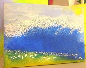 Seaside Reverie - original mini canvas