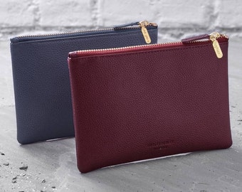 Personalised Leather Clutch Bag Or Cosmetic Purse - Personalized (HBL19 / 135Y)